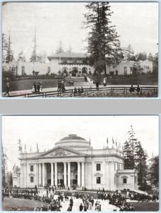 2 Postcards ALASKA YUKON PACIFIC Expo  OREGON & IDAHO Buildings 1909 Seattle WA