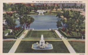 Fine Arts Garden And Lake At Art Museum Cleveland Ohio