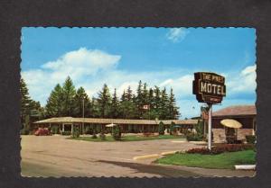 ON The Pines Motel Woodstock Ontario Canada Carte Postale Postcard