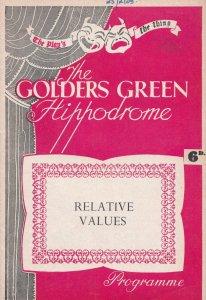 Relative Values East Kent Drama Golders Green Theatre Programme