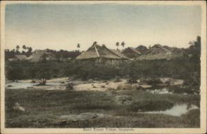 Singapore Bukit Timah Village c1910 Postcard