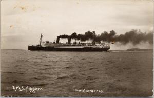 RMS Niagara Ship UNUSED Duncan & Co Auckland Real Photo Postcard E56