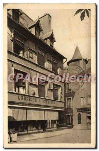 Postcard Old Rodez Place Bourg Old Houses