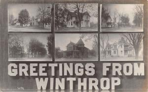 Winthrop Iowa~Residential Streets~Homes & Mansions~1917 Real Photo Postcard~RPPC