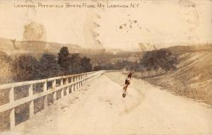 Mt Lebanon New York Pittsfield State Rd Real Photo Antique Postcard K92563
