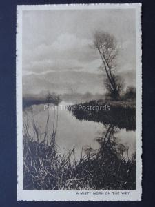 Surrey GUILDFORD A MISTY MORN ON THE WEY Old Postcard by Harold G. Bailey