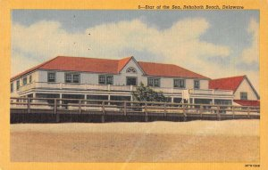 Rehoboth Beach Delaware Star of the Sea Linen Vintage Postcard AA26448