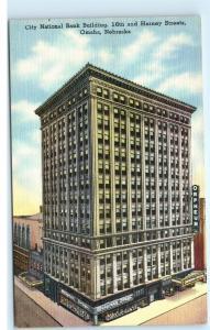 City National Bank Building Orpheum Theatre Omaha Nebraska Vintage Postcard A86