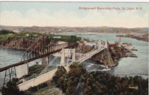 Canada New Brunswick St John Showing Bridges and Reversible Falls