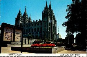 Utah Salt Lake City Temple Square The Mormon Temple