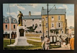 Mint Vintage War Memorial Portrush Antrim Ireland Color Real Picture Postcard