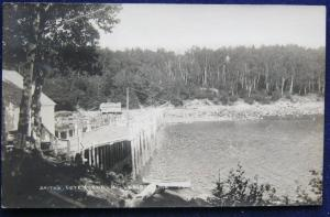 Smiths Cove Pond Millbridge ME Real Photo Post Card Unposted