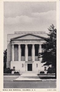 COLUMBIA , South Carolina , 1930s ; World War Memorial