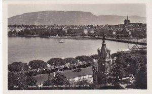 Schweiz Geneve Monument Brunswick et Vue sur la Ville Photo