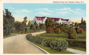 Southern Pines North Carolina outside Highland Pines Inn antique pc Y15031