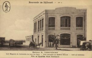 djibouti, Maison R. Vorperian, International Curiosity Shop (1920s)