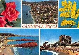 France Cannes La Bocca General view Beach 1971 Postcard