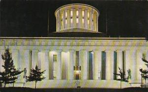 Ohio Columbus Night View Of The Ohio State Capitol