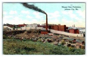JEFFERSON CITY, MO Missouri ~ STATE PENETENTIARY 1909 Cole County Postcard