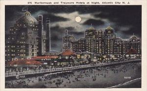 Marlborough And Traymore Hotels At Night Atlantic City New Jersey
