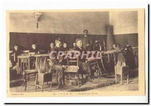 Institution for Blind Youth Nancy IJAN 8 street Santifontaine Postcard Old Wo...
