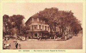 Vietnam Saigon Rue Catinat les quais Rigaud de Genouilly 06.74