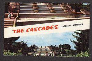 MI The Cascades Sparks Park Jackson Michigan Postcard Carte Postale