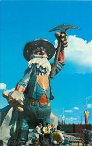 Edmonton Alberta~Fairgrounds~Klondike Mike~36 Foot Prospector Statue~1950s