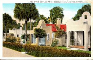 Florida Daytona Osceola-Gramatan Hotel View Of The Cottages 1925 Curteich