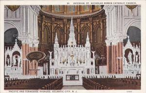 New Jersey Atlantic City Interior Saint Nicholas Roman Catholic Church Pacifi...