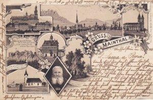 HESSE, Germany, PU-1896, Gruss aus Maintal , Main-Kinzig district