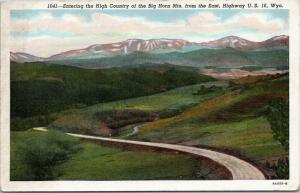 Entering the High Country of the Big Horn Mts from the East, Highway US  Wyoming