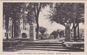 Missouri Warrensburg North Entrance Teachers College Albertype