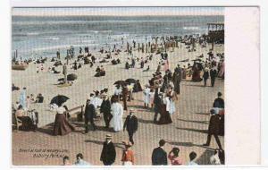 Boardwalk Beach Asbury Park NJ 1905c postcard
