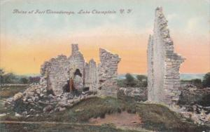 New York Lake Champlain Ruins Of Fort Ticonderoga