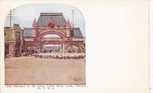 Illinois Chicago Union Stock Yards Main Entrance