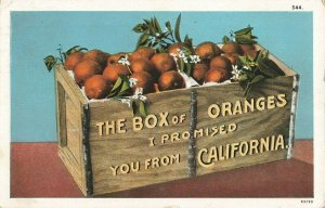 Postcard 1928 The Box of Oranges I Promised You From California ME3.