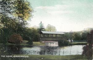 Wirral Merseyside England~Birkenhead~Park~Rustic Shelter Bridge~1910 Postcard