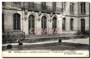 Postcard Old New Building of Musee Carnavalet iron grilles forge from the Chu...