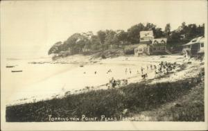 Peaks Island ME Torrington Point Beach c1920s-30s Real Photo Postcard