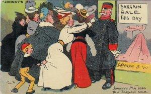 Tom B. ; Johnny's Ma goes to a bargin sale , 1907