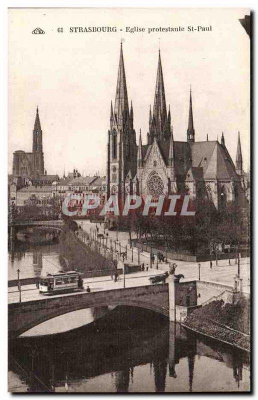 Strasbourg - Strassburg - Protestant Church St Paul - Old Postcard