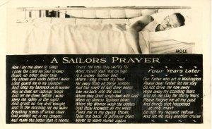 Military - A Sailor's Prayer     *RPPC