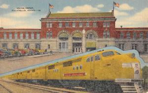 Pocatello Idaho Union Depot Street View Antique Postcard K98865