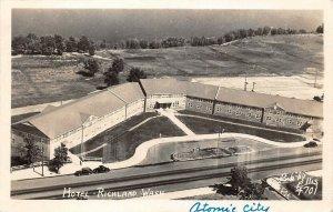 LPS55 Richland Washington Hotel Aerial View Postcard RPPC