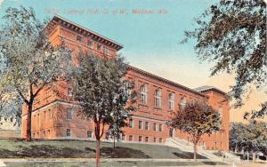 MADISON WISCONSIN~UNIVERSITY-LATHROP HALL-WOMEN'S RECREATIONAL & SOCIAL POSTCARD