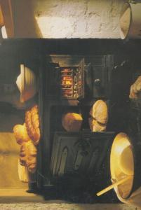 Cottage Barley Loaf Loaves Milk Plait Dairy Soda Cob Still Life Food Postcard