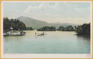 Lake George, New York, Small Steam Launch near Island Harbor-Detroit/Phostint