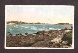 MA Harbor view cottages Bass Rock Gloucester Massachusetts Mass Postcard