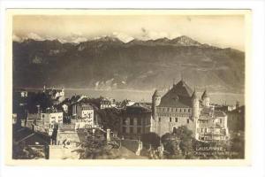 RP  Lausanne, Switzerland , 1910s   Le Chateau et les Alpes